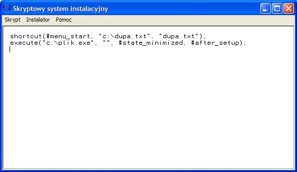 Skryptowy System Instalacyjny - edytor